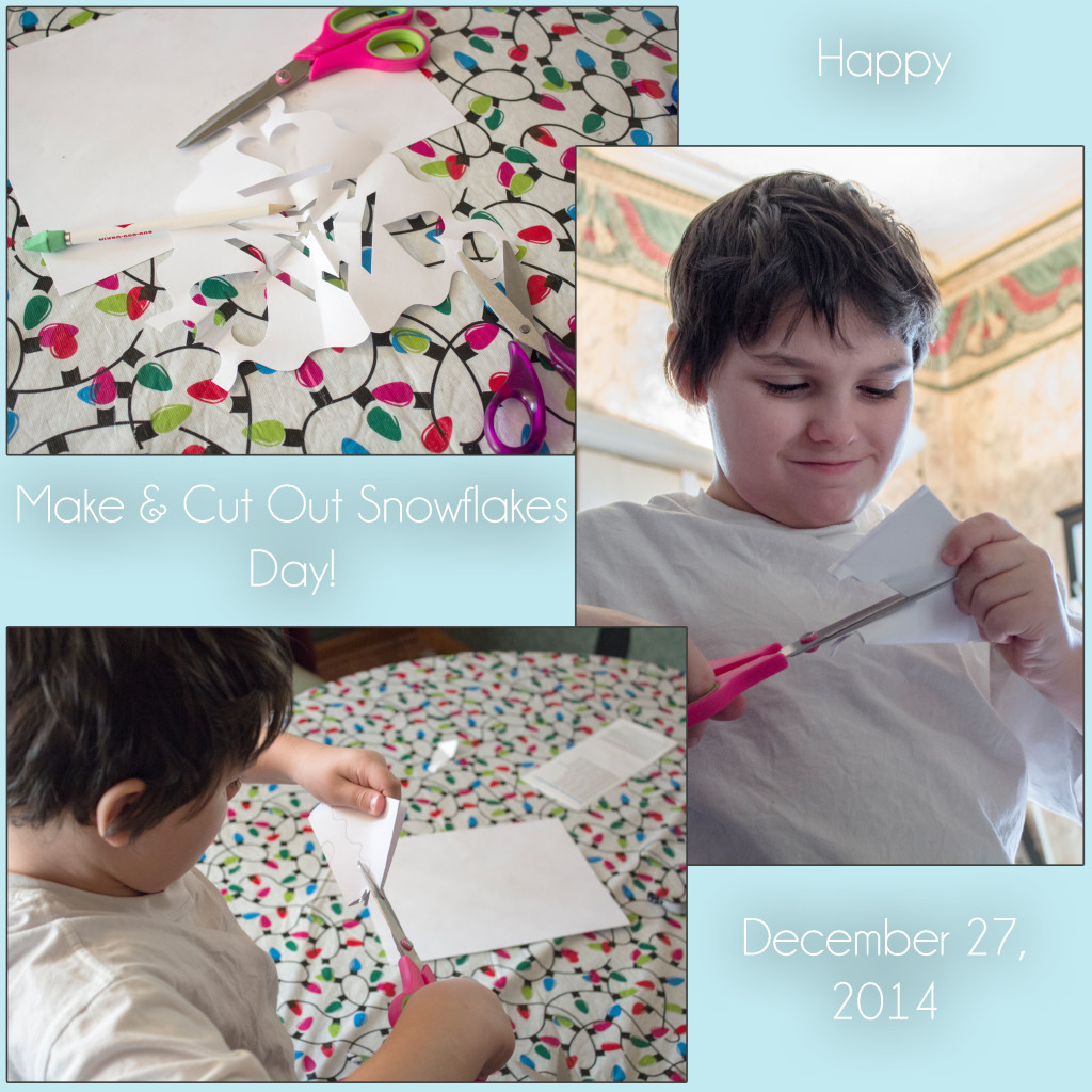 Make and Cut Out Snowflakes Day Triptych